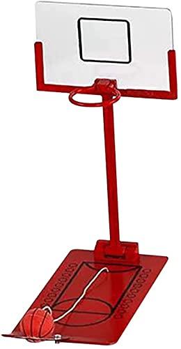 Duyifan Aro de Baloncesto Plegable en Miniatura, Juego de Mesa de Juguete, Juego de Baloncesto de Mesa, Juguete de Oficina, decoración de Escritorio para Amantes del Baloncesto (Rojo)