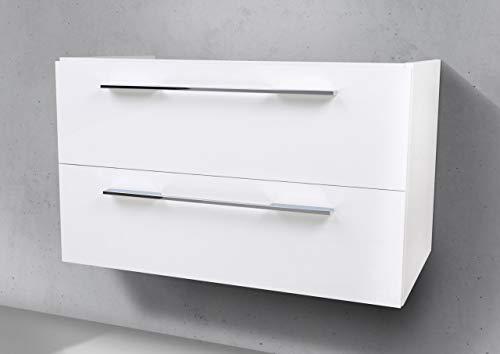 Intarbad ~ Unterschrank für Sanibel Serie 5001 Enjoy 60 cm Waschtisch Weiß Hochglanz Lack IB1769
