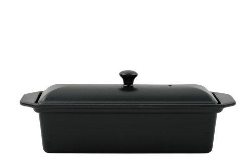 Chasseur Gusseisen-Form für Terrine oder Pastete, mit Deckel, 28 cm, schwarz