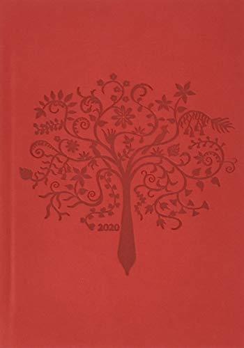 Terminer A6, geprägt rot. Taschenkalender 2020. Wochenkalendarium. gebunden. Format 11,5 x 16,3 cm