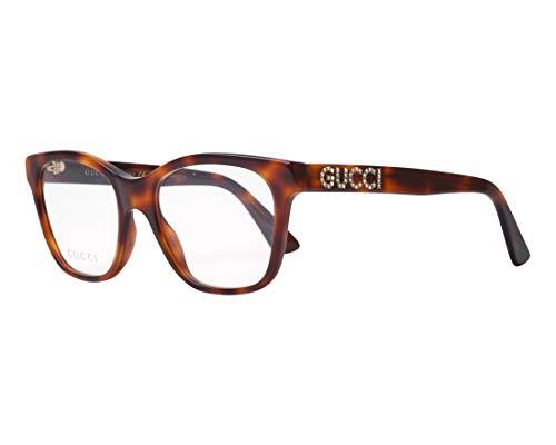Gucci Unisex – Erwachsene GG0420O-002-52 Brillengestell, Havana, 52