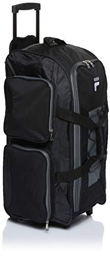 "Fila 26"" Lightweight Rolling Duffel Bag, Black, One Size"