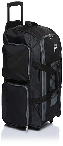 "Fila 26"" Lightweight Rolling Duffel Bag, Black, One Size"