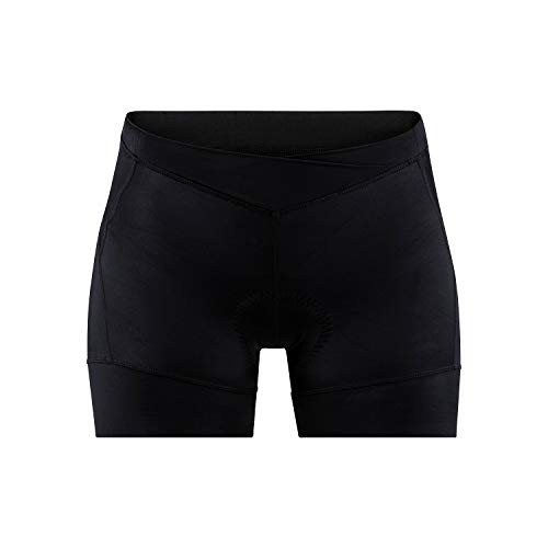 Craft Damen Essence HOT Pants Radhose, Black, XS