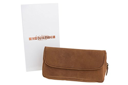 4TH Generation Single Combo Tobacco Pouch - Hunter Brown