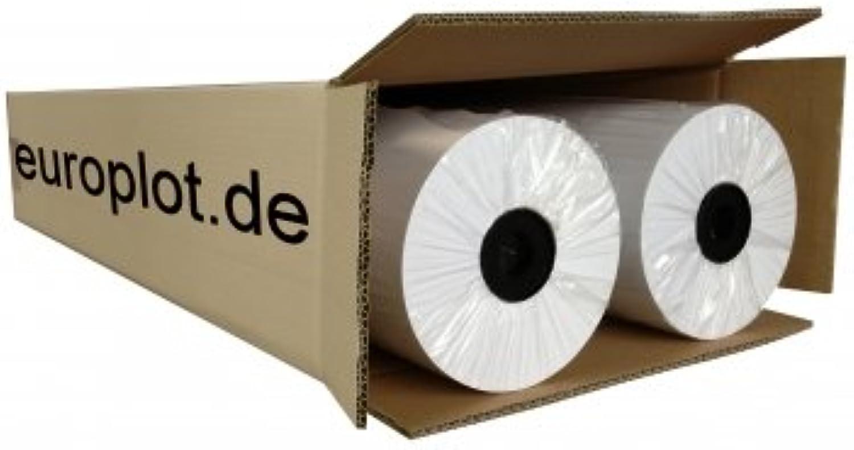 (0,20€ m²) Plotterpapier ungestrichen, 2 Rollen   80g m², 594mm b, 150m l B00LVRKWS6   Mittlere Kosten