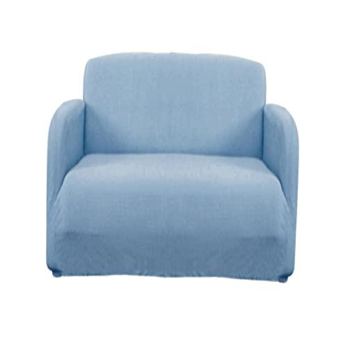 Nobranded Funda Protectora de sofá con Base elástica cómoda para Muebles de Sala de Estar - Azul 1 Asiento