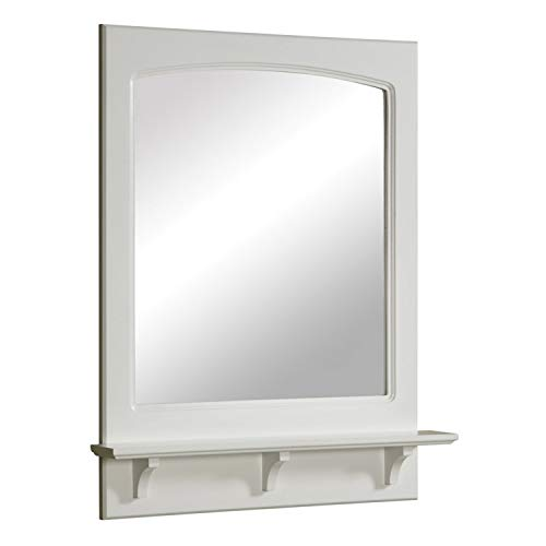 Design House 539916 Concord Framed Mirror with Shelf, White, 24'