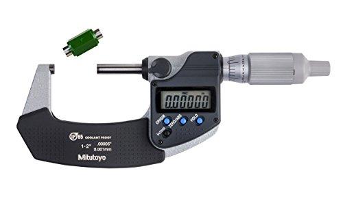 Mitutoyo 293-345-30CAL Digimatic Micrometer with Calibration, 1-2