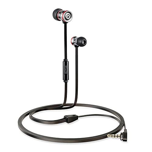 Betron MK23T - Auriculares con cable con micrófono