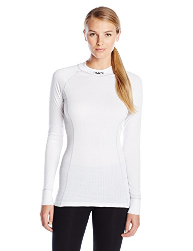 Craft Sportswear Women's Active Extreme Base Layer Long Sleeve Athletic Fitness Workout Crewneck Shirt: cooling/sport/bike/ski/run/sun/protection/top, White, X-Large