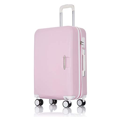 Mdsfe ABS + PC travel suitcase trolley Rolling luggage 20 '' carry on Cabin suitcase spinner wheels 26 big luggage bag Women luggage men - pink, 22'