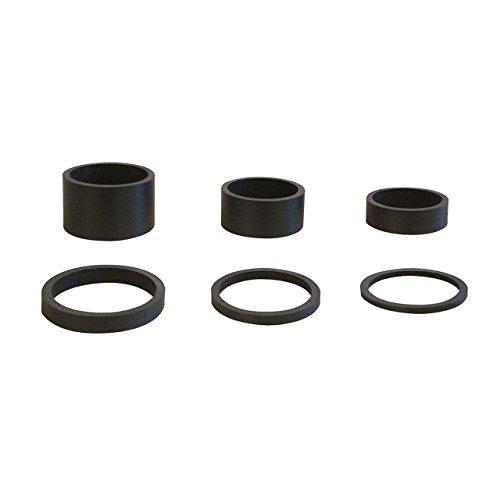 6pcs Luz Peso Carbono UD Mate Negro 5uni 11/8'-2mm, 3mm, 5mm, 10mm, 15mm, 20mm