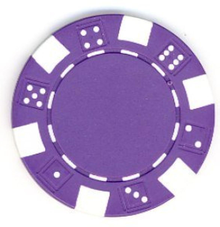 Pack of 50 - 11.5 gram Purple DICE Design Poker Chips