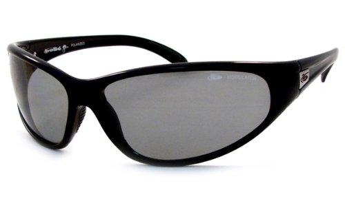 Bollé zonnebril Boa Shiny Black Modulator Polarized Grey, 10635