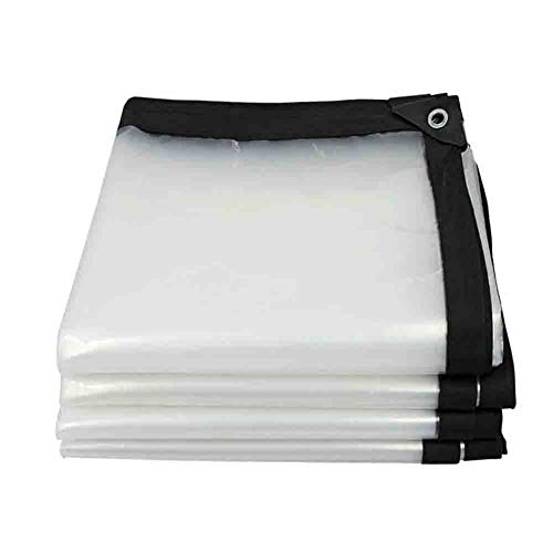 Clear Tarp with Grommets Multi-Purpose Waterproof Tarpaulins for Boat Pool Cover Multi-Purpose Anti-Tear Cloth Cover, Awning (Color : Clear, Size : 12.8×32FT/4x10M)