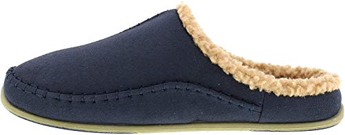 Deer Stags Men's Nordic Slip on Slipper, Navy, 10 M US