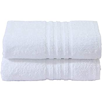 Divine Textiles - Juego de toallas (algodón egipcio, 600 g/m²), algodón, Blanco, 2 x Hand Towels: Amazon.es: Hogar