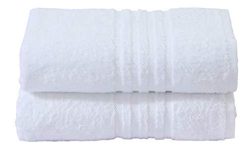 Divine Textiles - Juego de toallas (algodón egipcio, 600 g/m²), algodón, Blanco, 2 x Hand Towels