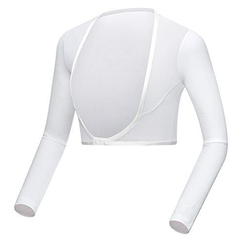 Qiekenao Zomer Zon Bescherming Arm Mouwen, Womens Cool Sjaal Lange Mouw Vest Ijs Zijde Bottoming Shirt