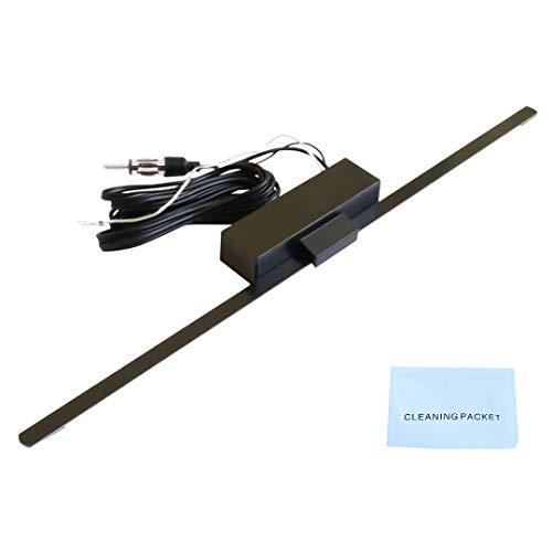 W-mtools Scheibenantenne Autoradio mit Verstärker - 34cm Länge, Antenne selbstklebend für Autoradio, Fenster-Antenne geeignet als Klebeantenne für Innen, Radio-Antenne für KfZ & PKW