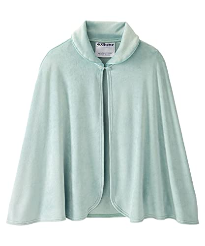 Silverts Disabled Adults & Elderly Needs Womens Warm Bed Jacket Cape Or Bed Shawl - Tranquil Sage