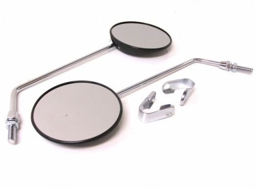 Universal Spiegel Satz links rechts mit Lenkerklemme Roller/Mofa/Moped/Mokick