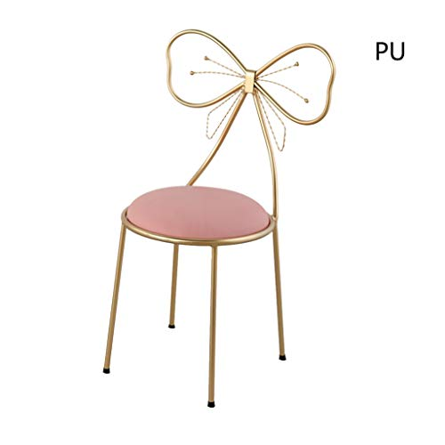 Butterfly Knotenstuhl, Schlafzimmer-Hinterstundenvorsitzender Kleiderstuhls Makeup Stuhl Home Decoration Leisure Chair,PinkA