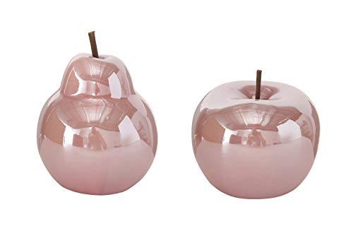 B.o.l.t.z.e Apfel + Birne Perly Porzellan Ø 10 cm, Farben:rosa