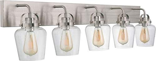 Craftmade Inventory cleanup selling sale 53505-BNK Trystan Clear Glass Vanity Lighting Bathroom outlet