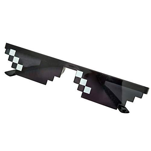 ZREAL Männer Frauen MLG Pixelated Sonnenbrille Thug Life Party Brillen Mosaik Vintage Eye Wear