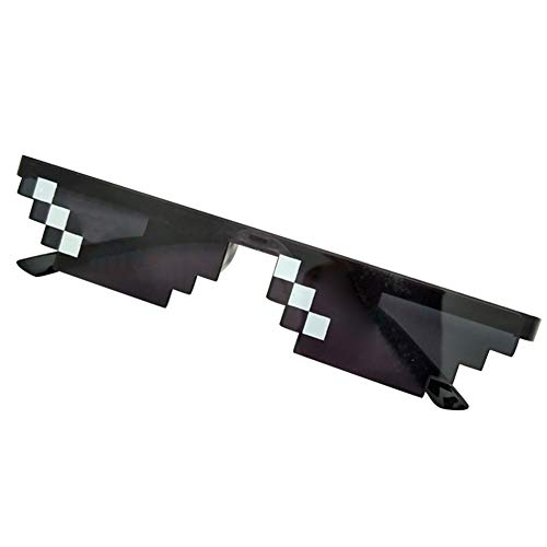 Helmay Männer Frauen MLG Pixelated Sonnenbrille Thug Life Party Brillen Mosaik Vintage Eye Wear
