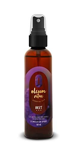 Spray Estimulante para un buen descanso REST 120 ml, con Aceites Esenciales Puros. Marca Oleum Vitae