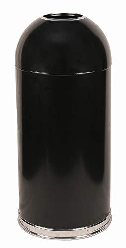 Witt Industries 415DTBK Steel 15-Gallon Standard Open Top Indoor Waste Receptacle with Galvanized Liner, Round, 15