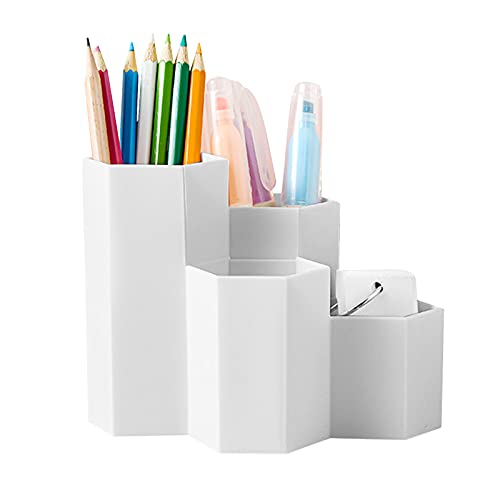 organizer scrivania,ortapenne da scrivania bambini,Penna Organizer Portaoggetti,porta penne storage,Portapenne da scrivania,Portapenne Multifunzione,porta penne (bianca)