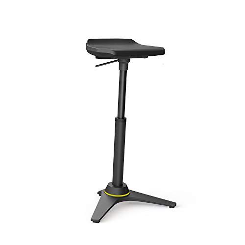 aeris Muvman Industry ESD Standard ergonomische Stehhilfe – Ableitfähiger, aktiver Stehsitz für dynamisches Sitzen und Stehen – Höhenverstellbarer Stehstuhl mit 51-84 cm Sitzhöhe