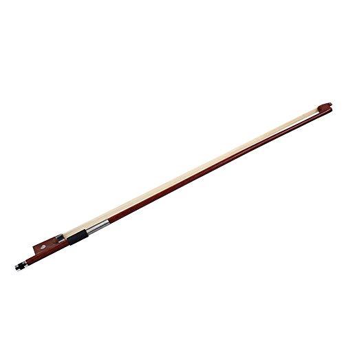 Ningque Geigenbogen 4/4, 1/8, 1/4 Größe Rotes Sandelholz Geigenbogen mit weißem Rosshaar für Violine Geigenbogen mit weißem Rosshaar, Schüler-Geigenbogen, für Anfänger