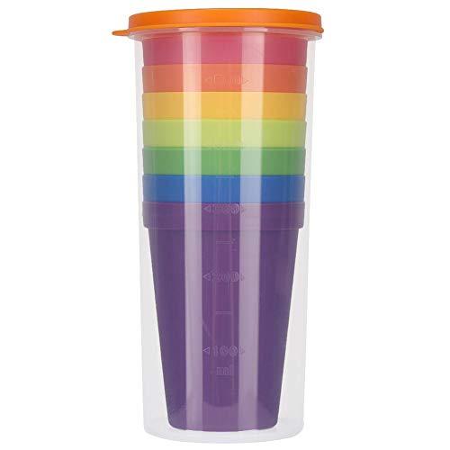 Fditt 7PCS Break-Resistant Herbruikbare PP Cups Regenboog Vaatwasser Veilige Plastic Tumblers Wegwerp Plastic Cups Kleine Snack & Drink Grootte | Feest, Evenement, Bruiloft
