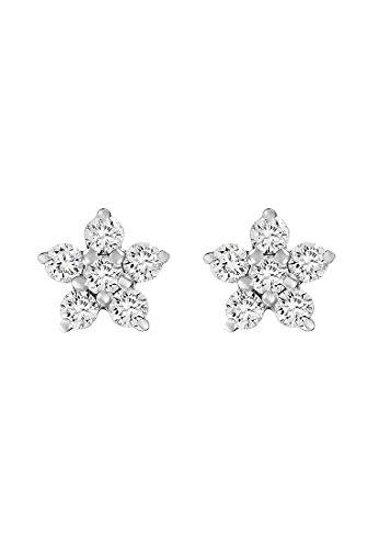 CHRIST Damen-Ohrstecker 375er Weißgold 12 Diamant One Size 87328988