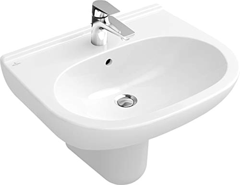 Villeroy&Boch Waschtisch O.novo 5160 650x510mm ohne Hahnloch überl Oval Wei Alpin AntiBac