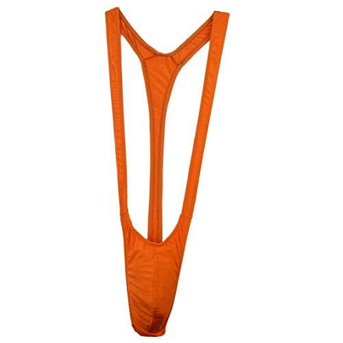 Acizi Herren Borat Mankini Tanga (Orange)