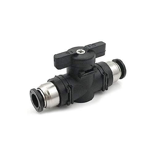 Conector neumático POWERTOOL válvula de bola de plástico interruptor de control de flujo de aire para tuberías de aire y herramientas neumáticas (4 mm)