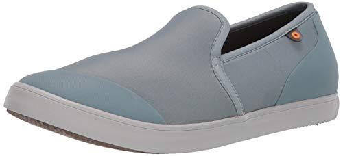 BOGS womens Kicker Water Resistant Loafer Flat, Stone Blue, 8 US