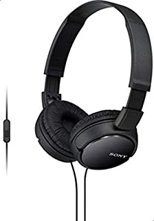 Sony MDR-ZX110AP Extra Bass Smartphone Headset With Mic (Black) Headphone