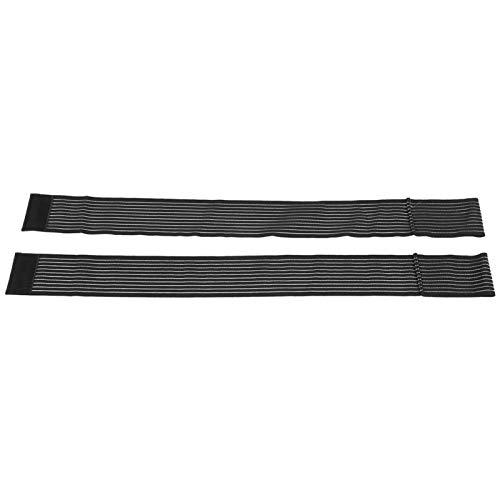 Cerlingwee Envuelve el Codo, Ajuste de tensión Nylon 75 X 7.5cm Vendaje elástico Fuerte Ganchos Fuertes Tobillo Muñequera Codo con Codo Envolvente para Baloncesto para Senderismo