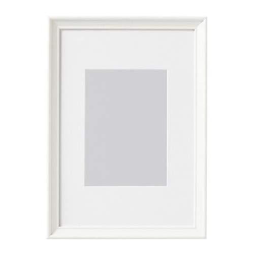 IKEA KNOPPÄNG Rahmen in weiß; inkl. Passepartout; (21x30cm)