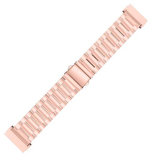 TEBI Correa de repuesto de acero inoxidable, correa de metal, correa de reloj para mujeres y hombres, pulsera Fitbit Sense/Versa 3