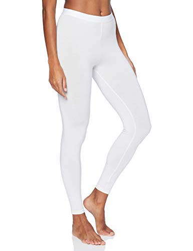 Amazon-Marke: Iris & Lilly Damen Dünne Thermo-Leggings, Weiß (Weiß), L, Label: L