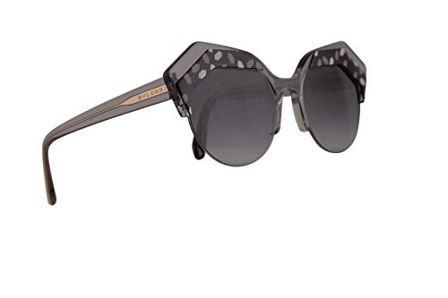 Bulgari BV8203 gafas de sol w/Grey Gradient 53mm lente 54448G BV 8203 mujer Gris negro Grande