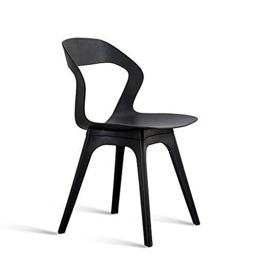 Dining chair Silla simple escritorio para estudiantes y silla de maquillaje taburete de computadora para el hogar duradero (color negro)